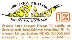 1% dla Brave Snails